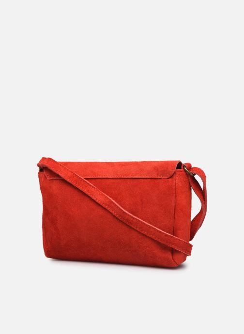 Handtaschen Georgia Rose Mifesta Leather rot ansicht von rechts