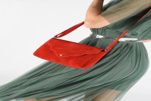 Sacs à main Georgia Rose Mifesta Leather Rouge vue bas / vue portée sac