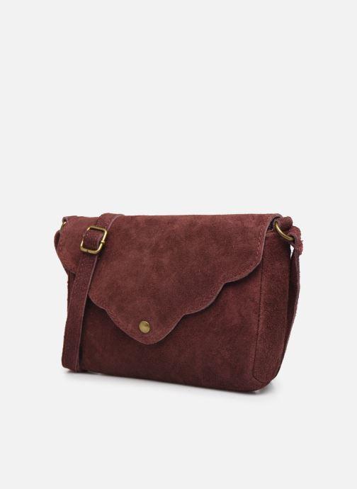 Bolsos de mano Georgia Rose Mifesta Leather Vino vista del modelo