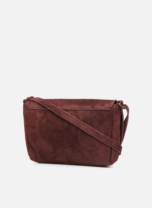 Handbags Georgia Rose Mifesta Leather Burgundy view from the right