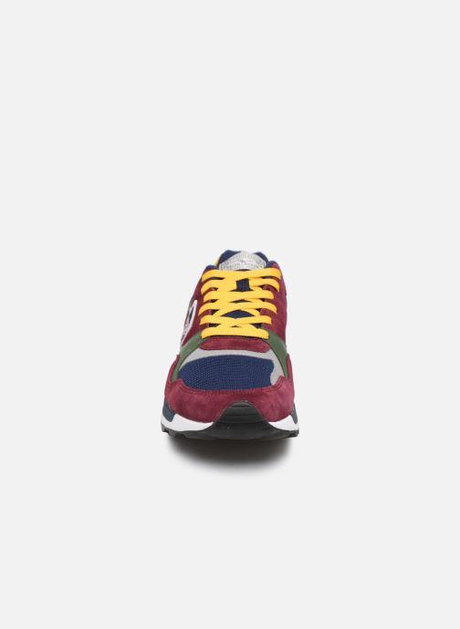 Baskets Polo Ralph Lauren Trackstr 100- Suede/ Mesh Bordeaux vue portées chaussures