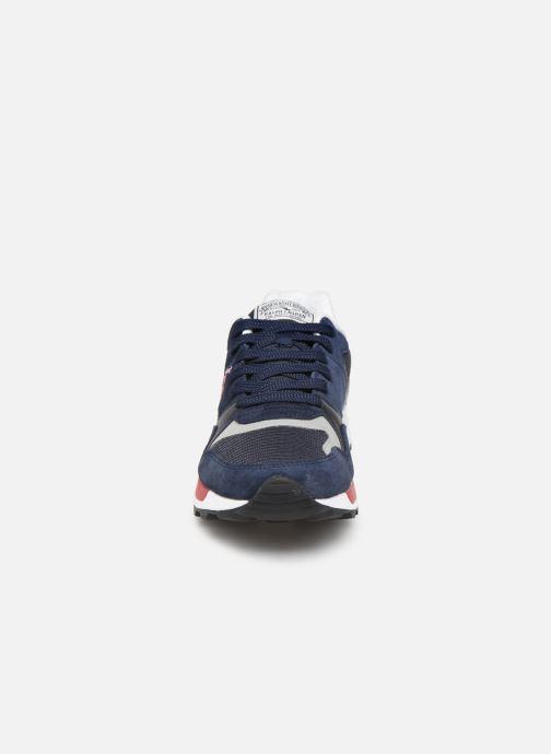 Baskets Polo Ralph Lauren Trackstr 100- Suede/ Mesh Bleu vue portées chaussures