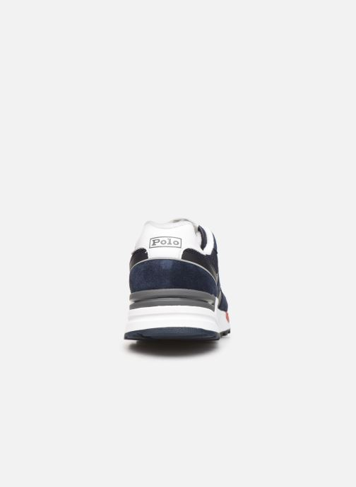 Baskets Polo Ralph Lauren Trackstr 100- Suede/ Mesh Bleu vue droite