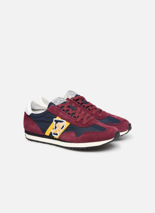 Trainers Polo Ralph Lauren Train 90/ Suede Red 3/4 view