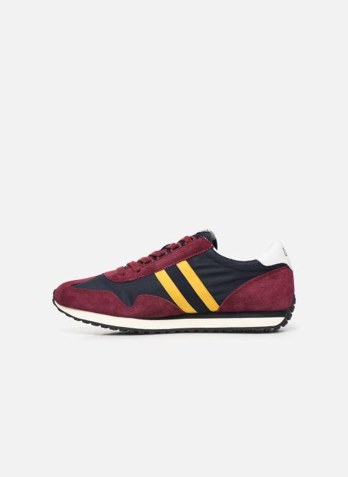 Sneaker Polo Ralph Lauren Train 90/ Suede rot ansicht von vorne
