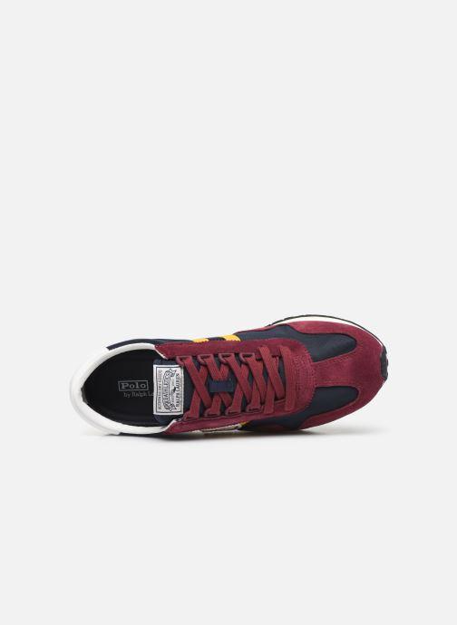 Sneaker Polo Ralph Lauren Train 90/ Suede rot ansicht von links