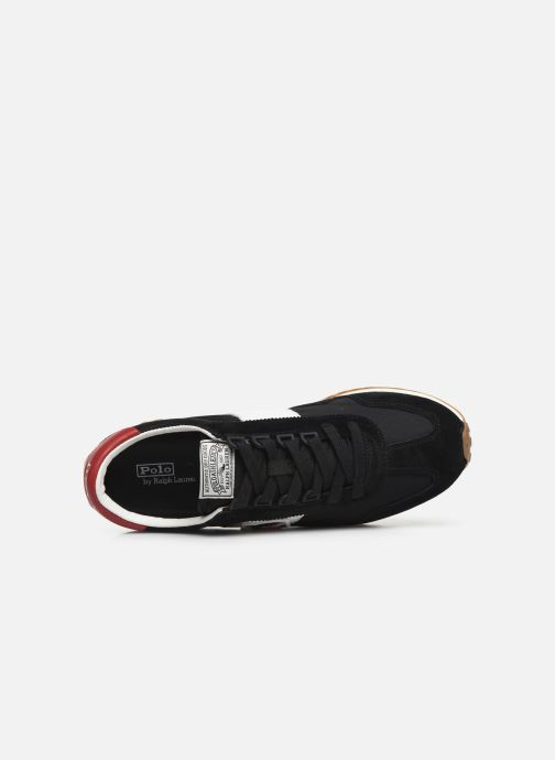 Baskets Polo Ralph Lauren Train 90/ Suede Noir vue gauche