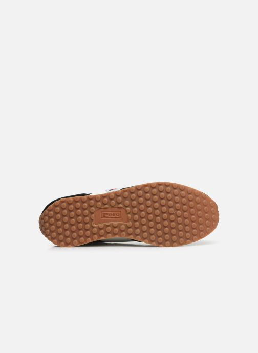 Baskets Polo Ralph Lauren Train 90/ Suede Noir vue haut