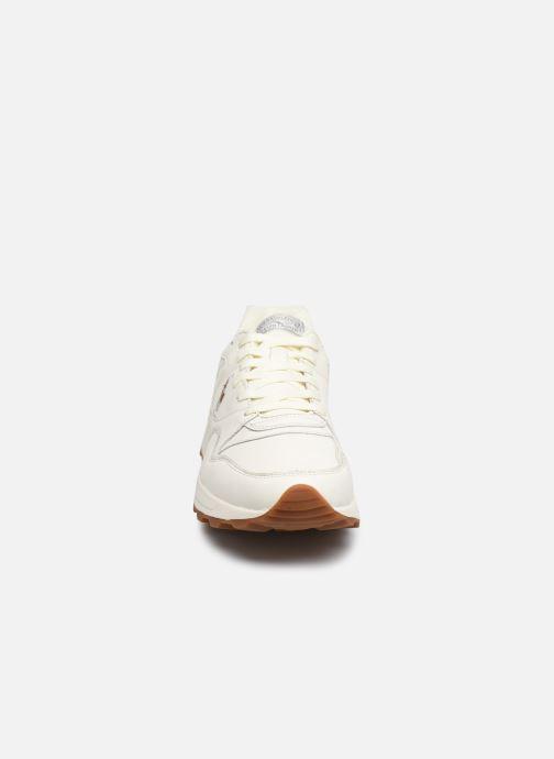 Baskets Polo Ralph Lauren Trckstr Pony- Leather Blanc vue portées chaussures