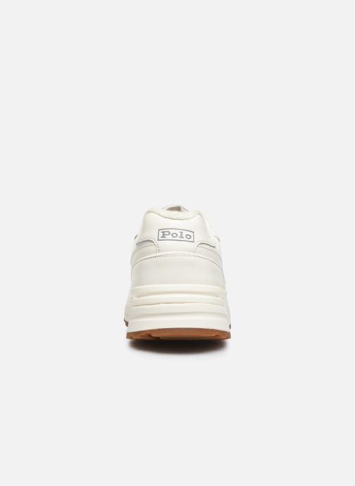 Baskets Polo Ralph Lauren Trckstr Pony- Leather Blanc vue droite