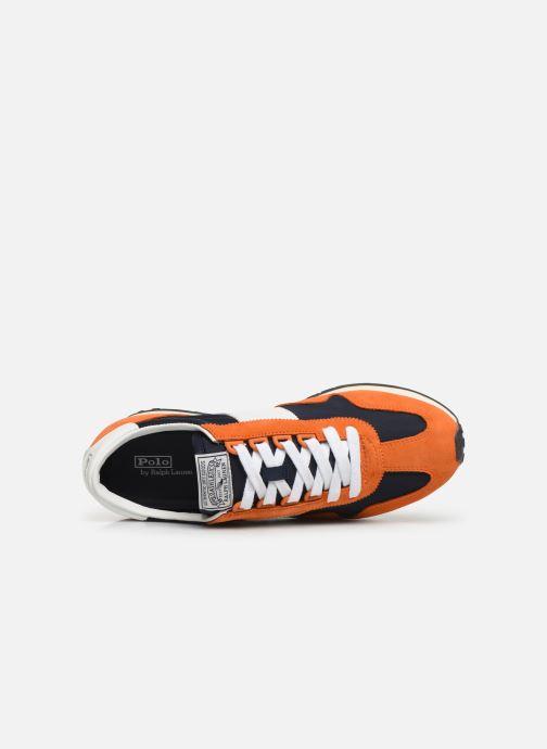 Baskets Polo Ralph Lauren Train 90-PP/ Suede Orange vue gauche