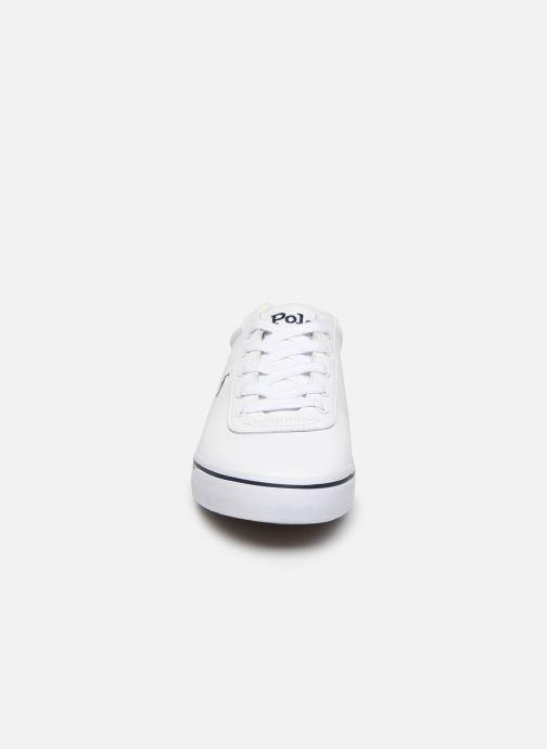 Sneakers Polo Ralph Lauren Hanford - Leather Bianco modello indossato
