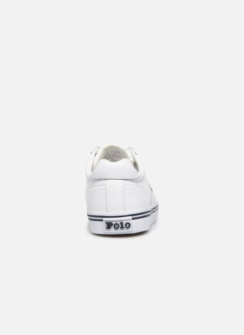 Baskets Polo Ralph Lauren Hanford - Leather Blanc vue droite