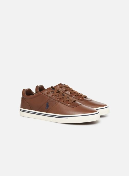 Baskets Polo Ralph Lauren Hanford - Leather Marron vue 3/4