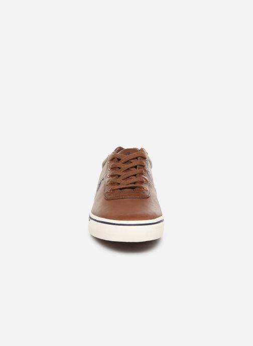 Baskets Polo Ralph Lauren Hanford - Leather Marron vue portées chaussures