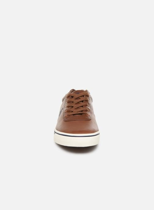 Baskets Polo Ralph Lauren Hanford - Leather Marron vue portées chaussures