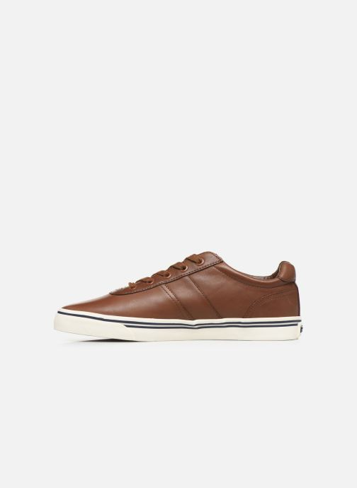 Baskets Polo Ralph Lauren Hanford - Leather Marron vue face