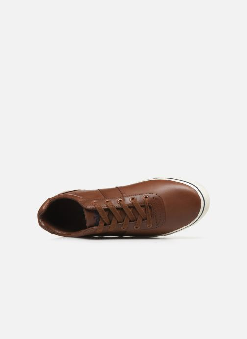 Baskets Polo Ralph Lauren Hanford - Leather Marron vue gauche