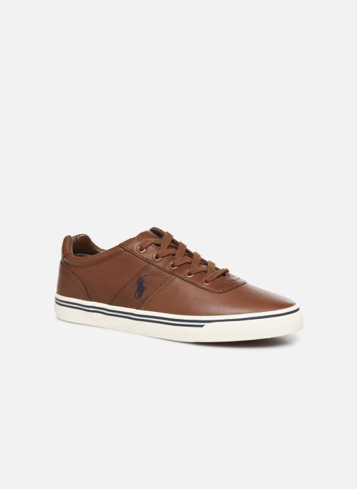 Baskets Polo Ralph Lauren Hanford - Leather Marron vue détail/paire