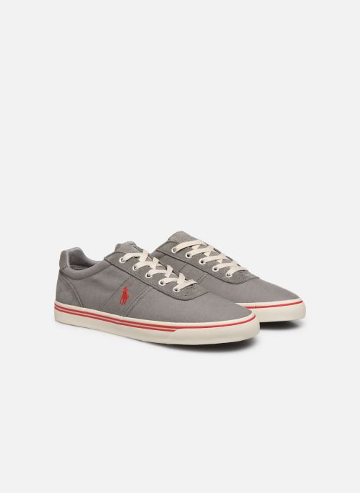 Baskets Polo Ralph Lauren Hanford - Leather Gris vue 3/4