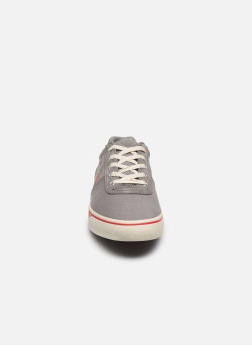 Baskets Polo Ralph Lauren Hanford - Leather Gris vue portées chaussures