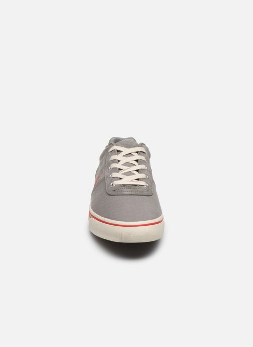 Baskets Polo Ralph Lauren Hanford - Leather Gris vue portées chaussures