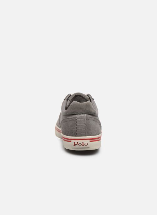 Baskets Polo Ralph Lauren Hanford - Leather Gris vue droite