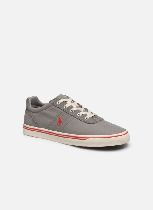 Baskets Polo Ralph Lauren Hanford - Leather Gris vue détail/paire