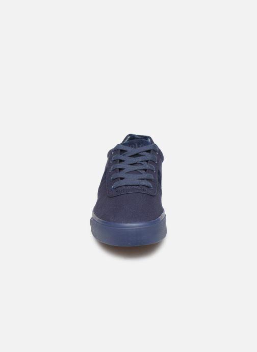 Baskets Polo Ralph Lauren Hanford- monochromatic Canvas Bleu vue portées chaussures