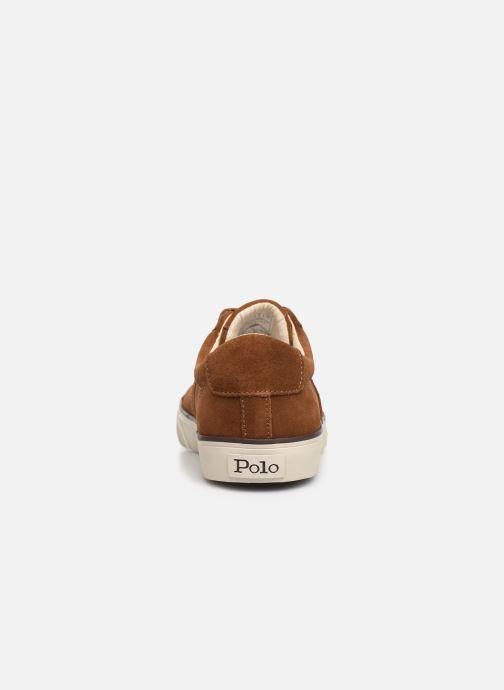 Baskets Polo Ralph Lauren Sayer- Suede Marron vue droite