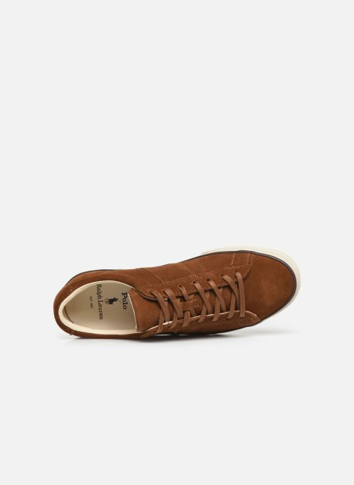 Trainers Polo Ralph Lauren Sayer- Suede Brown view from the left