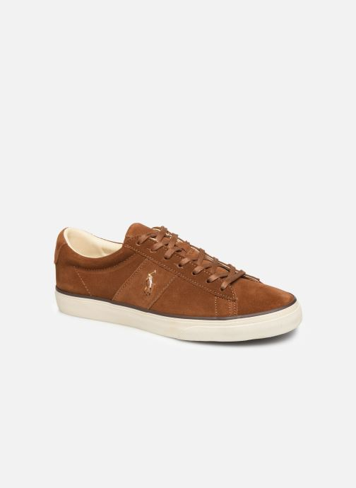 Trainers Polo Ralph Lauren Sayer- Suede Brown detailed view/ Pair view