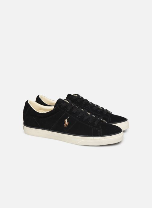 Baskets Polo Ralph Lauren Sayer- Suede Noir vue 3/4