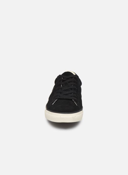 Baskets Polo Ralph Lauren Sayer- Suede Noir vue portées chaussures