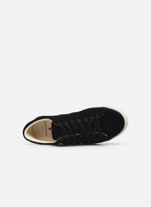 Baskets Polo Ralph Lauren Sayer- Suede Noir vue gauche