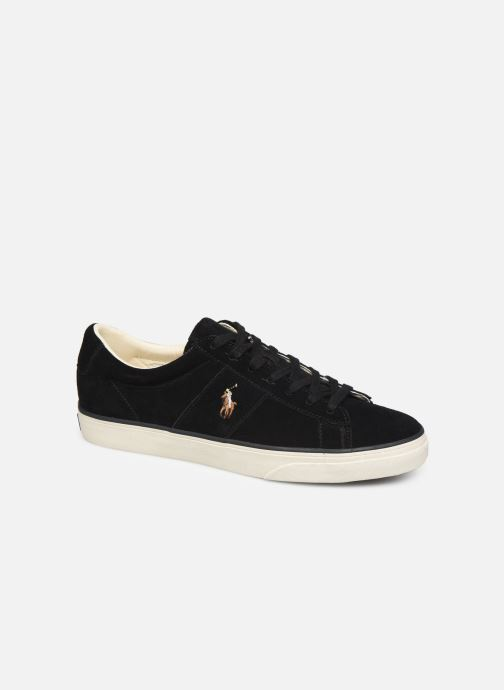 Baskets Polo Ralph Lauren Sayer- Suede Noir vue détail/paire