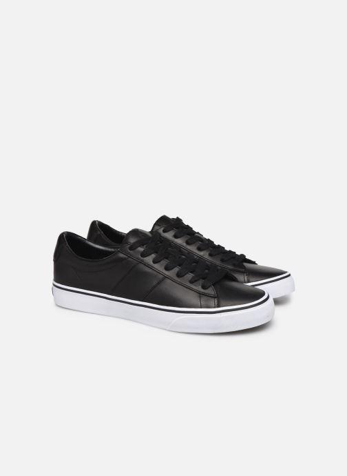 Sneakers Polo Ralph Lauren Sayer- Leather Zwart 3/4'