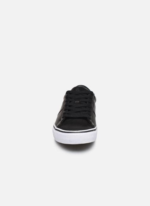 Sneakers Polo Ralph Lauren Sayer- Leather Nero modello indossato