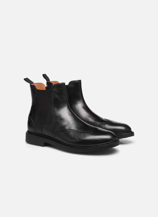 Bottines et boots Polo Ralph Lauren Asher Chlsea -Calf Leather Noir vue 3/4
