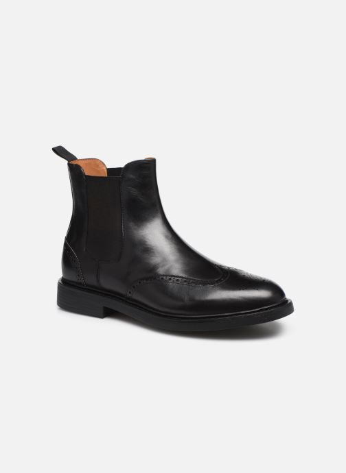 Bottines et boots Polo Ralph Lauren Asher Chlsea -Calf Leather Noir vue détail/paire