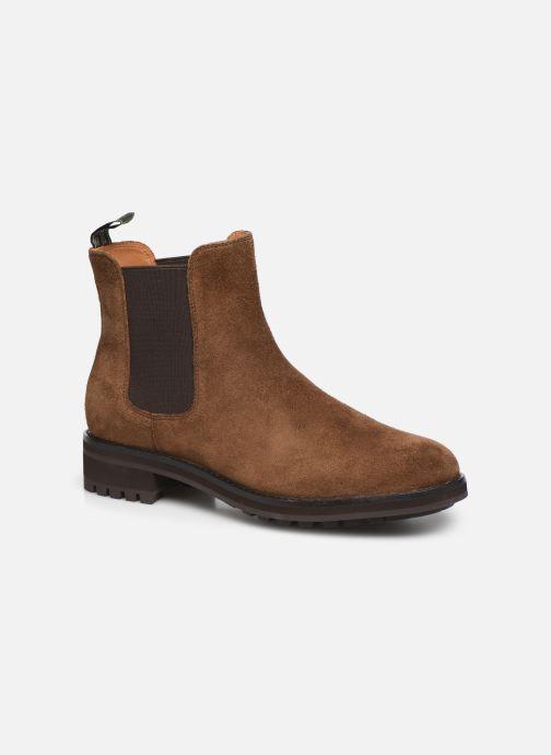 Bottines et boots Polo Ralph Lauren Bryson Chls - Suede Marron vue détail/paire