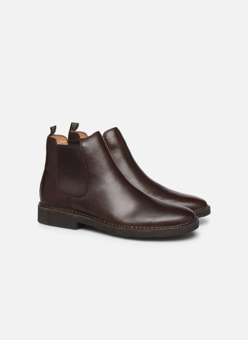 Bottines et boots Polo Ralph Lauren Talan Chlsea - Smooth Leather Marron vue 3/4