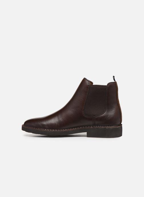 Boots en enkellaarsjes Polo Ralph Lauren Talan Chlsea - Smooth Leather Bruin voorkant