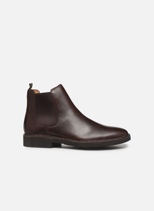 Ankle boots Polo Ralph Lauren Talan Chlsea - Smooth Leather Brown back view