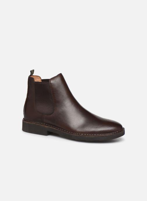 Bottines et boots Polo Ralph Lauren Talan Chlsea - Smooth Leather Marron vue détail/paire