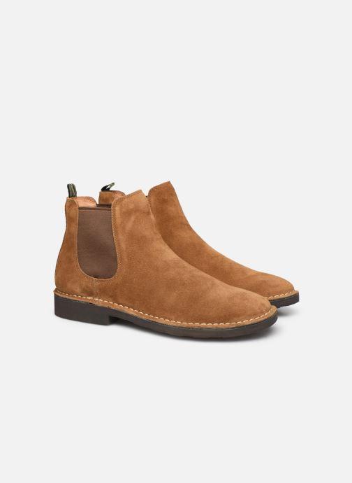 Bottines et boots Polo Ralph Lauren Talan Chlsea  Suede Marron vue 3/4
