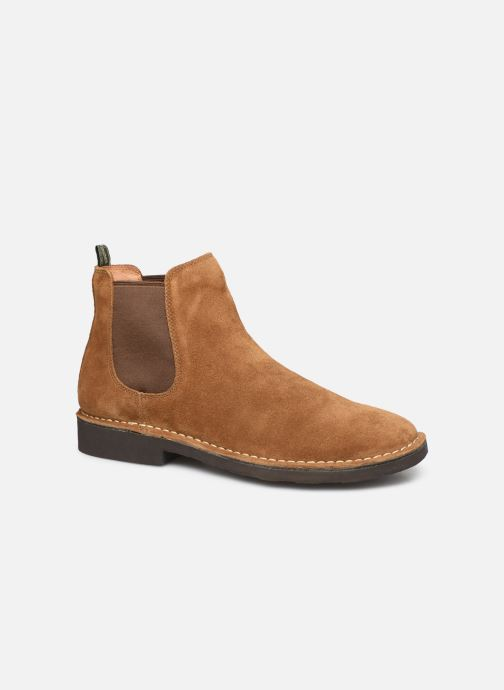 Bottines et boots Polo Ralph Lauren Talan Chlsea  Suede Marron vue détail/paire