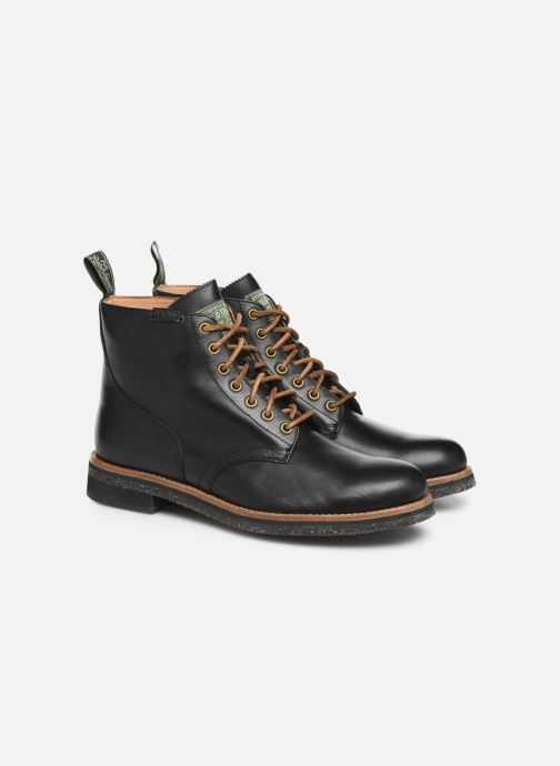 Ankle boots Polo Ralph Lauren RL Army BT Smooth Leather Black 3/4 view