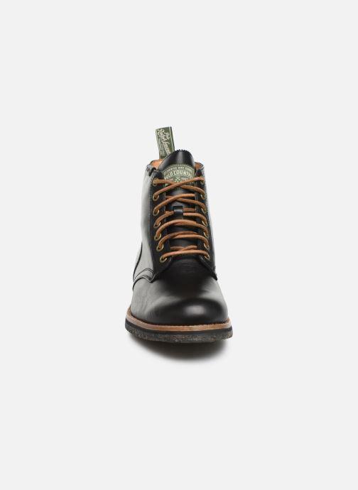 Bottines et boots Polo Ralph Lauren RL Army BT Smooth Leather Noir vue portées chaussures