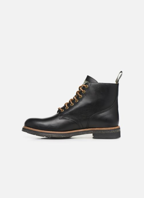 Ankle boots Polo Ralph Lauren RL Army BT Smooth Leather Black front view